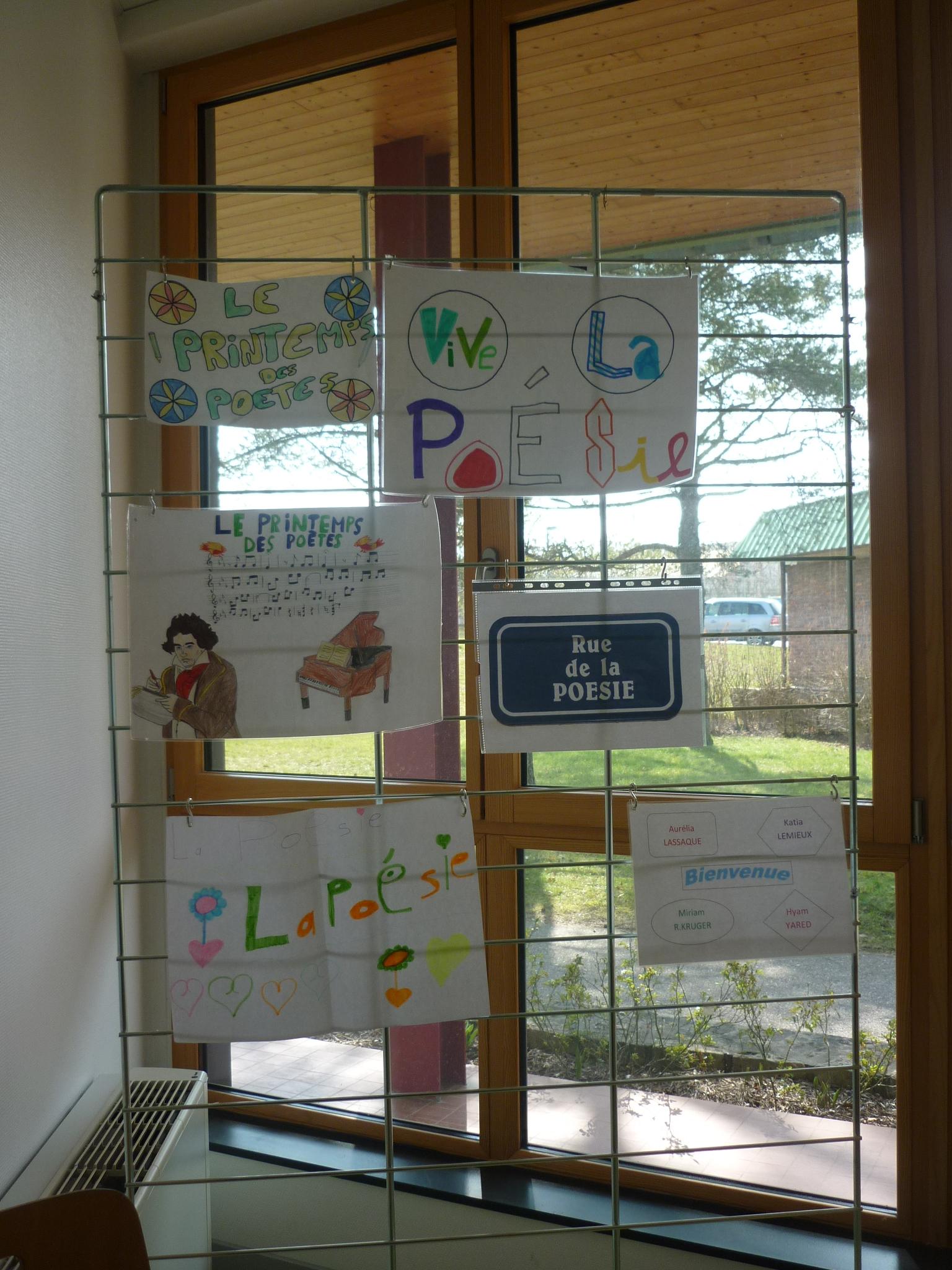 De jolies affiches réalisées par les élèves