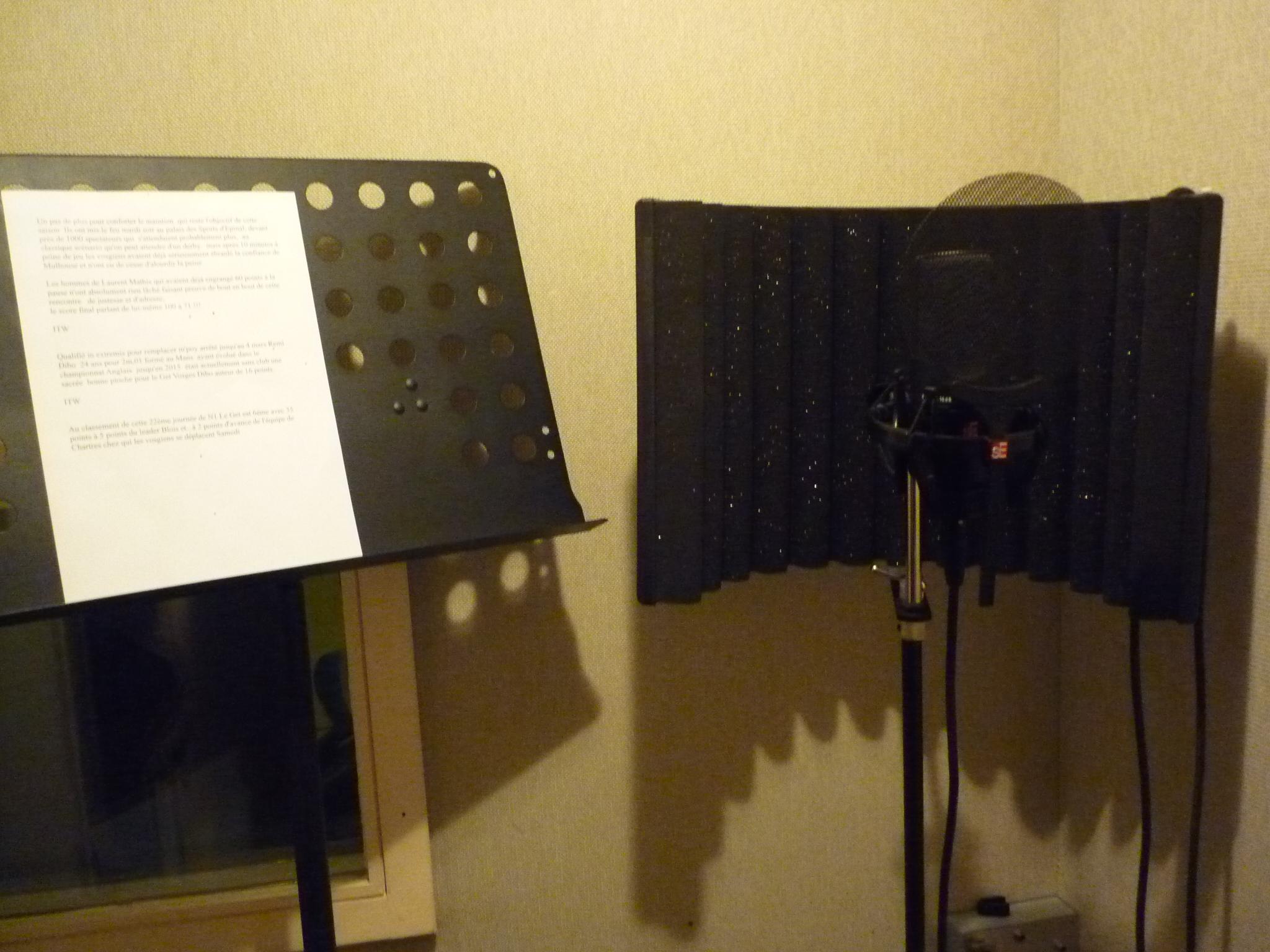Micro pour la voix-off