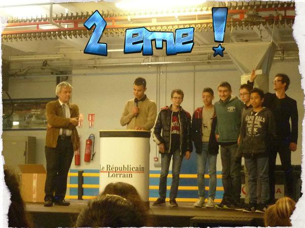 Concours Mediatiks : 2ème !